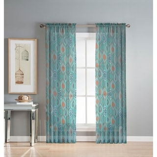 Window Elements Olina Printed Sheer Extra Wide 96-inch Grommet Curtain Panel - 54 x 96