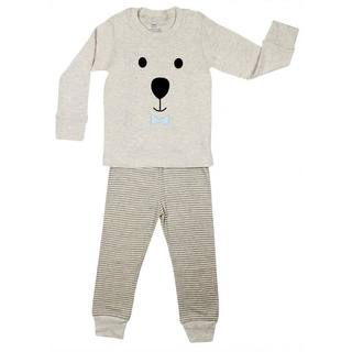 Elowel Teddy Face Cotton 2-piece Pajama Set