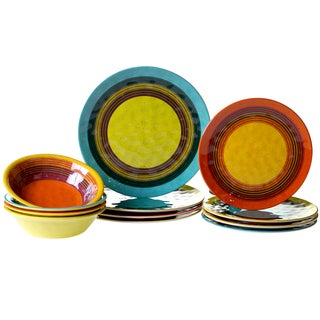Certified International Sedona 12-piece Dinnerware Set  sc 1 st  Overstock : inexpensive christmas dinnerware - pezcame.com