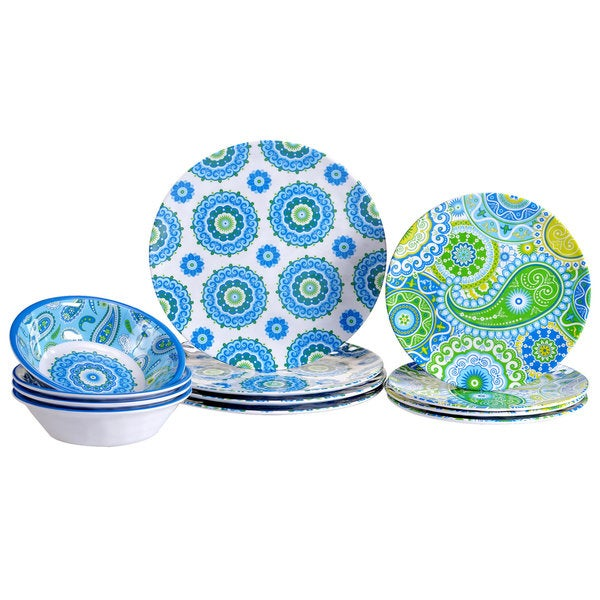 Marvelous Certified International Boho 12 Piece Dinnerware Set Download Free Architecture Designs Lukepmadebymaigaardcom