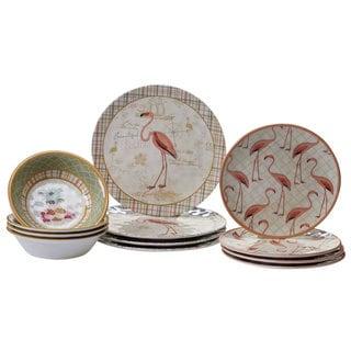 Certified International Floridian 12-piece Dinnerware Set  sc 1 st  Overstock & Melamine Dinnerware | Find Great Kitchen u0026 Dining Deals Shopping at ...