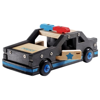 Stanley Jr. Wooden Police Car Building Kit