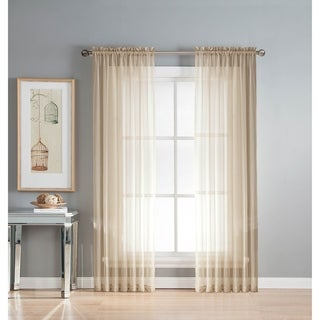 Window Elements Sheer Elegance Rod Pocket 108 x 84 in. Curtain Panel Pair