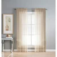 Window Elements Sheer Elegance Rod Pocket 108 x 84 in. Curtain Panel Pair