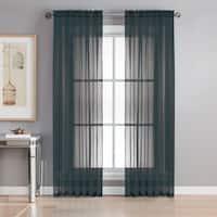 Window Elements Sheer Elegance Grommet 84-inch Curtain Panel Pair