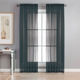 Window Elements Sheer Elegance Grommet 84-inch Curtain Panel Pair