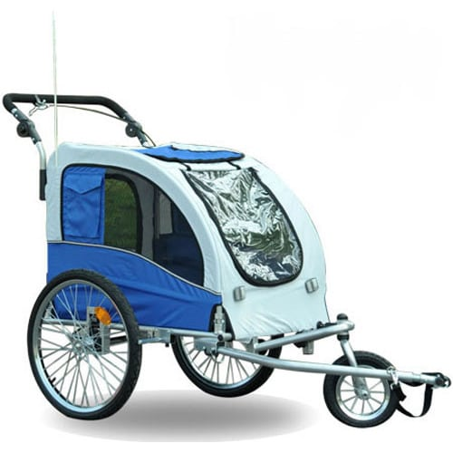 Aosom Elite II Pet Dog Bike Trailer Stroller Suspension J...