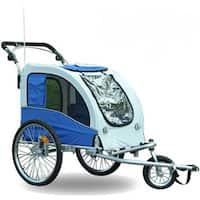 Aosom Elite II Pet Dog Bike Trailer Stroller Suspension Jogger
