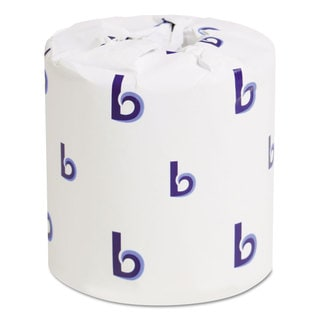 Boardwalk Two-Ply Toilet Tissue White 4 1/2 x 4 1/2 Sheet 500 Sheets/Roll 96 Rolls/Carton