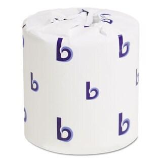 Boardwalk Two-Ply Toilet Tissue White 4 1/2 x 4 1/2 Sheet 500 Sheets/Roll 96 Rolls/Carton