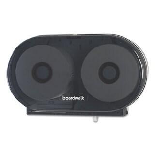 Boardwalk Jumbo Twin Toilet Tissue Dispenser Smoke Black 5.938 x 22.437 x 13 7/8