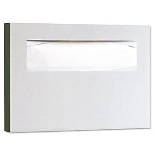 Bobrick Stainless Steel Toilet Seat Cover Dispenser 15 3/4 x 2 x 11 Satin Finish