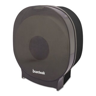 Boardwalk Single JBT Toilet Tissue Dispenser One Jumbo Roll Smoke Black 5.562x10x11 7/8