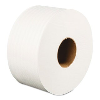 Boardwalk Jumbo Roll Bathroom Tissue 2-Ply White 3.2-inch x 525 ft 12 Rolls/Carton