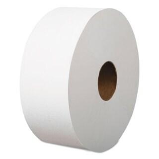 Boardwalk Jumbo Roll Bathroom Tissue 2-Ply White 3.4-inch x 1200-feet 12 Rolls/Carton