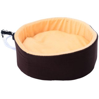"""Pawhut 16"""" Indoor Electric Heated Round Dog Bed"""