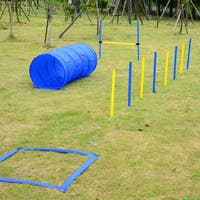 Pawhut HomCom Portable Dog Obstacle Agility Training Course Kit