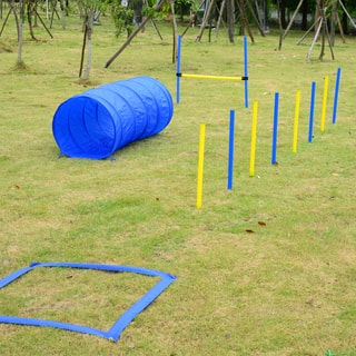Pawhut Dog Obstacle Agility Training Course Kit