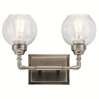 Kichler Lighting Niles Collection 2 light Antique Pewter Bath Vanity LightPewter Finish Wall Sconces   Vanity Lights   Shop The Best Deals  . Pewter Bathroom Lighting Fixtures. Home Design Ideas