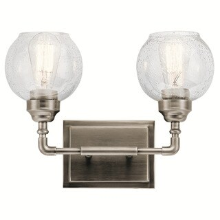 Kichler Lighting Niles Collection 2-light Antique Pewter Bath/Vanity Light