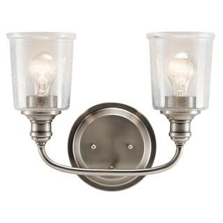 Kichler Lighting Waverly Collection 2-light Classic Pewter Bath/Vanity Light