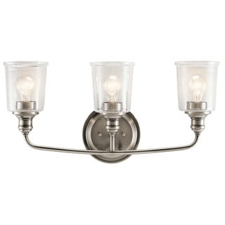 Kichler Lighting Waverly Collection 3-light Classic Pewter Bath/Vanity Light