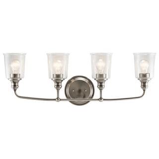 Kichler Lighting Waverly Collection 4-light Classic Pewter Bath/Vanity Light