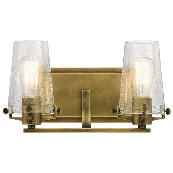 Shop Kichler Lighting Alton Collection 2-light Natural Brass Bath ...
