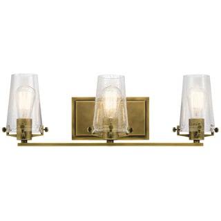 Kichler Lighting Alton Collection 3-light Natural Brass Bath/Vanity Light