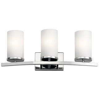 Kichler Lighting Crosby Collection 3-light Chrome Bath/Vanity Light