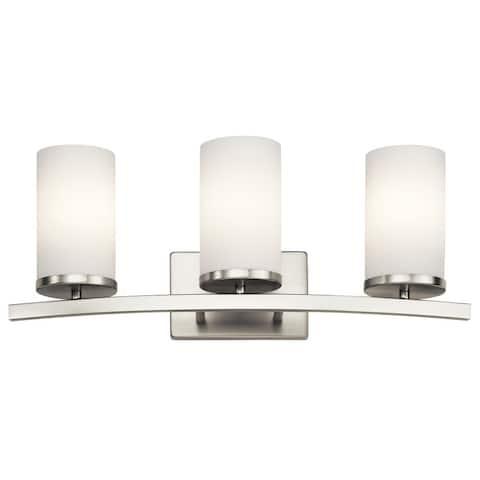 Copper Grove Bonaparte 3-light Brushed Nickel Bath/Vanity Light