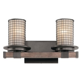 Kichler Lighting Ahrendale Collection 2-light Anvil Iron Bath/Vanity Light