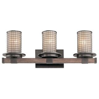 Kichler Lighting Ahrendale Collection 3-light Anvil Iron Bath/Vanity Light