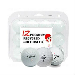 Titleist Nike Callaway Mix White Recycled Golf Balls (Case of 24)
