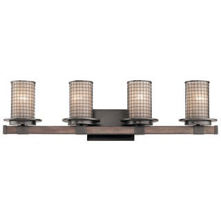 Kichler Lighting Ahrendale Collection 4-light Anvil Iron Bath/Vanity Light