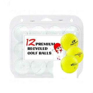 Assorted Yellow Mix Recycled Golf Balls- 24 Pack