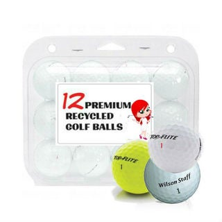 White Assorted Mix Recycled Golf Balls (Case of 24)