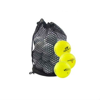 Mesh Bag of Assorted Yellow Recycled Golf Balls (Pack of 50)