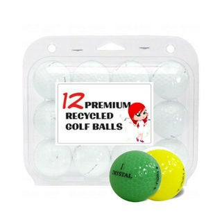 Crystal Colors Mixed Recycled Golf Balls (Case of 12)