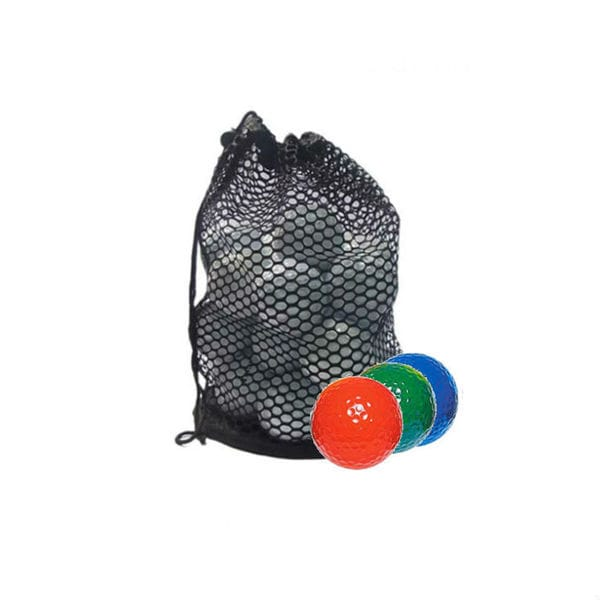 Assorted Color Mix Mesh Bag Recycled Golf Balls (Case of 100)