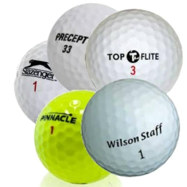 Assorted Mix AAAA Recycled Golf Balls (Case of 100)