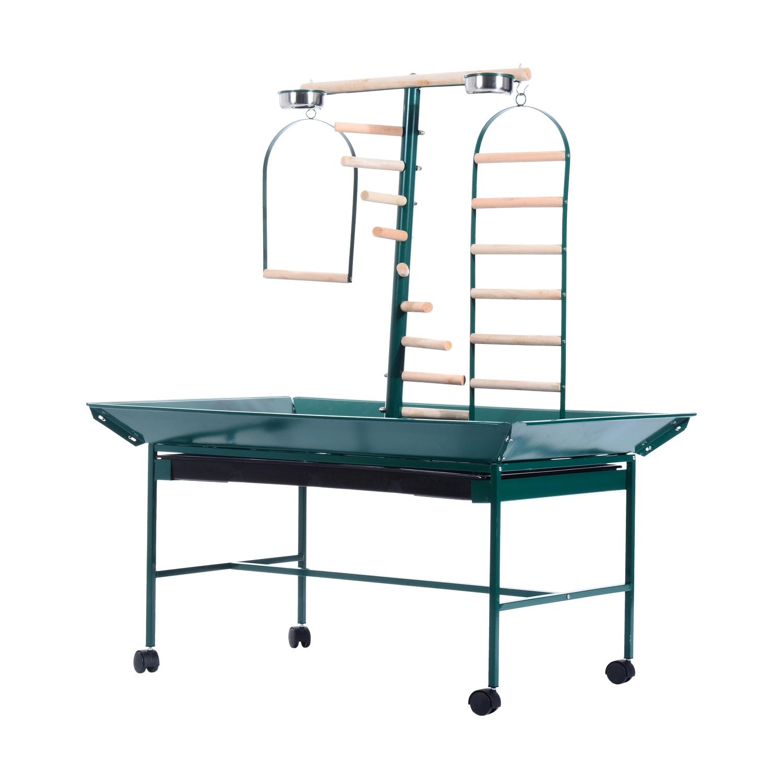 Pawhut 53 Bird Play Wheeled Stand (Green)