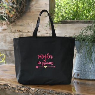 Wedding Party Mother of the Groom Tribal Black Tote Bag