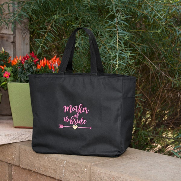 Wedding Party Tribal Black Mother Of The Bride Tote Bag
