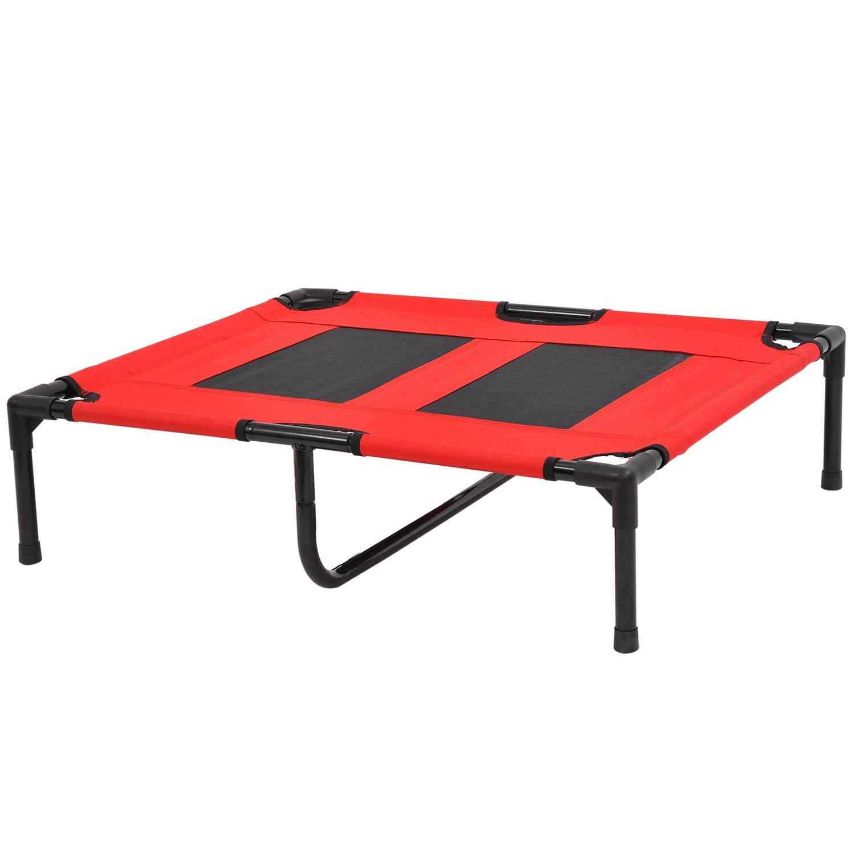 Aosom Pawhut Large Indoor/Outdoor Elevated Folding Dog Be...