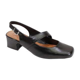 Fic Peerage Women's Trixie Leather Extra Wide Slingback (More options available)