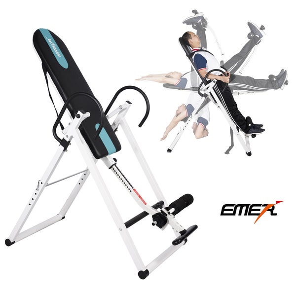 Emer Foldable Leather Back Relief Inversion Therapy Gravity Hang Table
