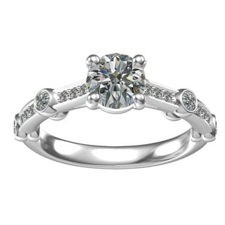 Sterling Silver 17ct TGW Round Cubic Zirconia Engagement Ring