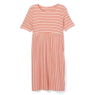 Spicy Mix Girls' Keely Grey and Pink Rayon and Spandex Striped Long Maxi Dress