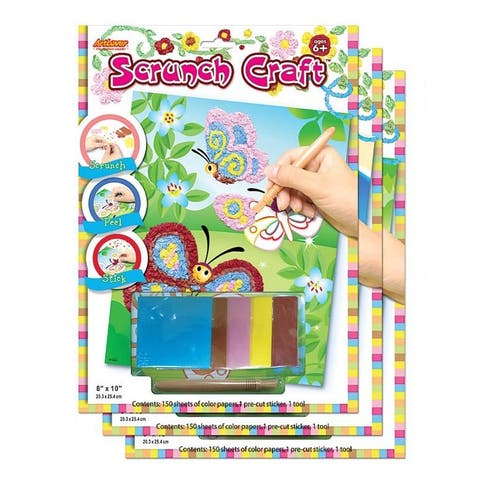 ArtLover Animal-themed Scrunch Craft Activity Kits (Set of 3)